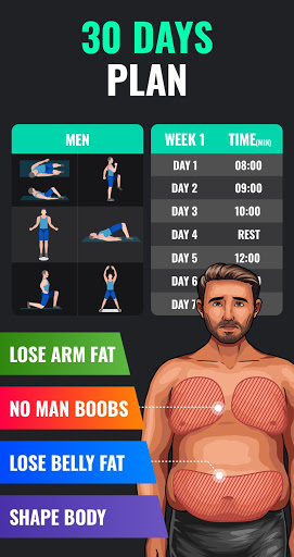 Lose Weight App for Men - Weight Loss in 30 Days  Screenshots 3