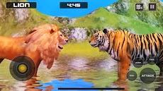 ライオン対トラ野生動物シミュレータゲームのおすすめ画像3