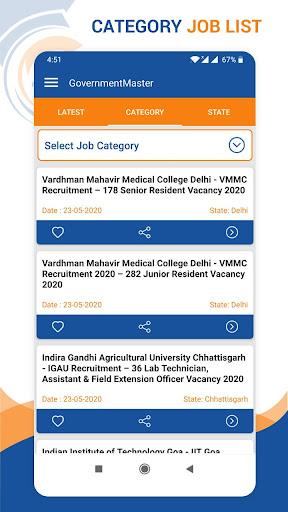 Government Jobs Master - Sarkari Naukri Alert 2021  screenshots 3