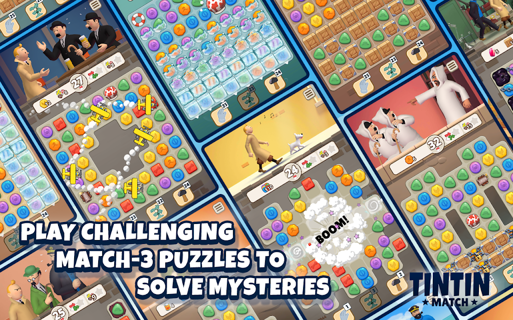 Tintin Match: Solve puzzles & mysteries together! poster 9