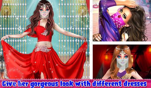Beautiful Belly Dancer Girl Salon : Dressup Games  screenshots 9