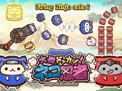 Ninja Cats Strike – slingshot action puzzle Online Hack Android & iOS 4