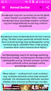 Soch parvarishi va Turmaklari 4.0 Screenshots 3