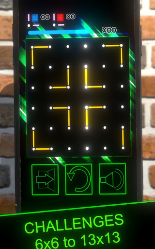 Dots and Boxes (Neon) 80s Style Cyber Game Squares apkdebit screenshots 5