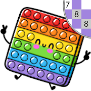 Kawaii Color by Number: Pixel Kawaii Coloring Book