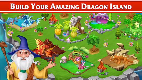 Dragon Paradise City: Breeding War Game Mod Apk 1.3.50 (Unlimited Gold/Gems/Food) 5