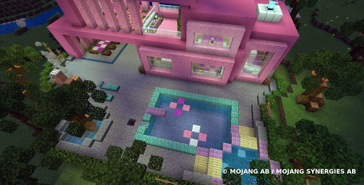 Pink house with furniture. Craft maps and mods 1.0.1 Screenshots 2