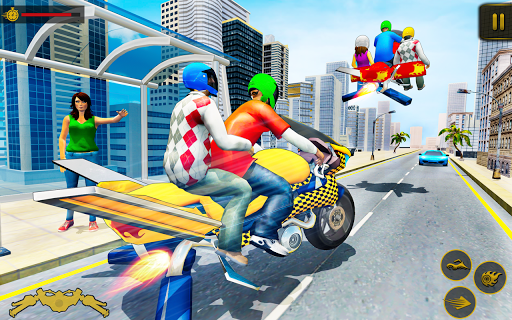Flying Hover Bike Taxi Driver City Passenger Sim 1.6 Screenshots 8