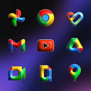 Download FluOxigen 3D – Icon Pack (Patched) 3