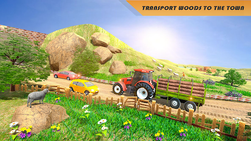 Tractor Trolley Drive Offroad Cargo: Tractor Games screenshots 3