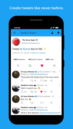 Fake tweet creator  screenshots 1