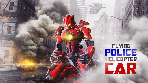 Foto do Flying Police Helicopter Car Transform Robot Games