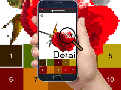 Rose Flower Pixel Art-Color By Number New 2021  screenshots 3