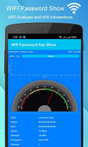 WiFi Password key Show - WiFi Analyzer  screenshots 3