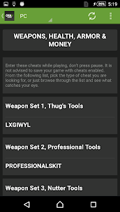 Cheats for GTA 5 (PS4/Xbox/PC) Apk Download 4