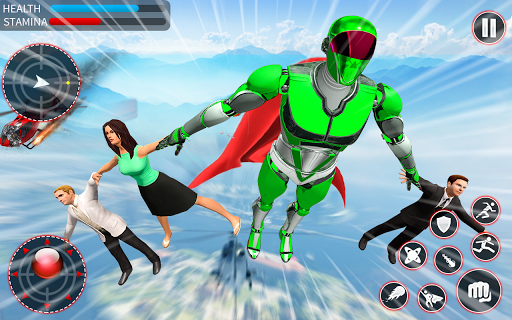 Light Speed Robot Hero - City Rescue Robot Games 1.0.2 screenshots 2