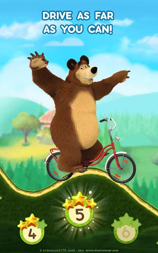 Masha and the Bear: Climb Racing and Car Games apkslow screenshots 12