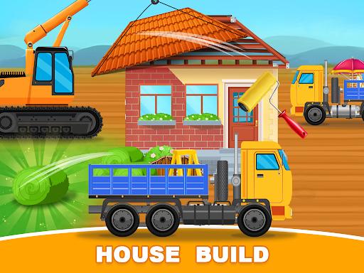 Construction Trucks & Vehicles : Build House Apkfinish screenshots 1
