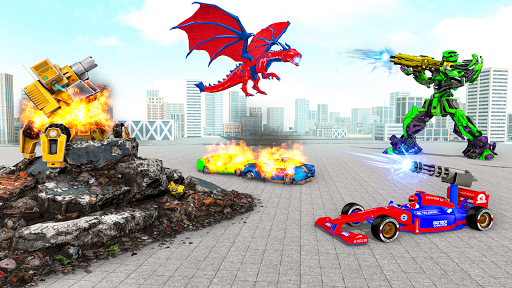 Multi Robot Car Transform Bat: Bus Robot Games 1.4 Screenshots 5