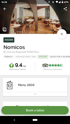 TheFork - Restaurants booking and special offers 18.0.2 screenshots 1