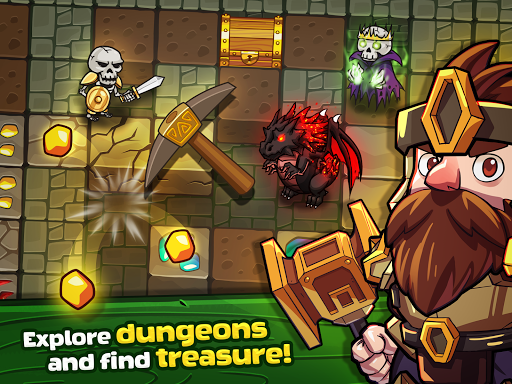 Mine Quest - Crafting and Battle Dungeon RPG apkslow screenshots 13