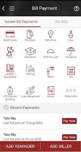 iMobile by ICICI Bank Screenshot