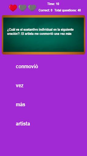 Los Sustantivos : Encuentra sustantivos en frases 1.3.0.0 screenshots 1