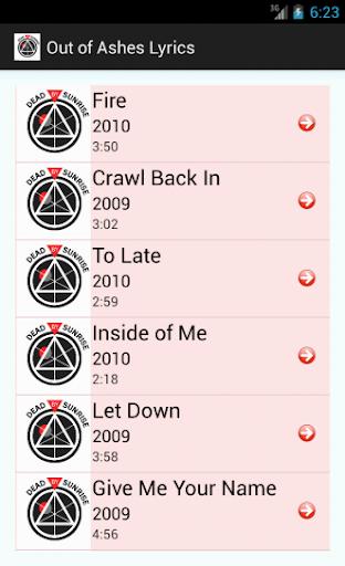 Dead By Sunrise Lyrics screenshots 1