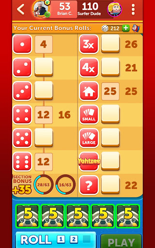 YAHTZEEu00ae With Buddies Dice Game 7.6.3 screenshots 23