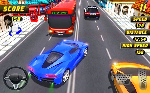 Car Racing in Fast Highway Traffic 2.1 screenshots 5