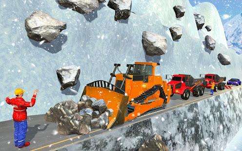 Heavy Excavator & Dozer Simulator u00b7 Snow JCB Game screenshots 11