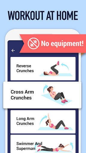 Abs Workout - Burn Belly Fat with No Equipment  screenshots 2