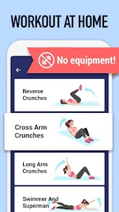 Abs Workout - Burn Belly Fat with No Equipment Screenshot