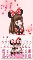 Lovely Bowknot Girl Keyboard Theme