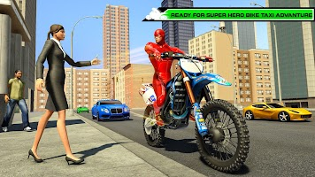 Superhero Bike Taxi Games 3D