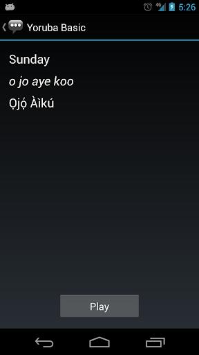 Learn Yoruba: Yoruba Basic Phrases - Works offline screenshots 3