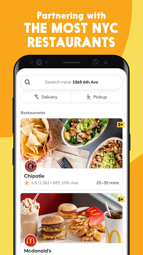 Seamless Download App Android : Restaurant Takeout & Food Delivery App