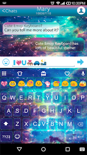 Star Galaxy Emoji Keybaord Screenshot