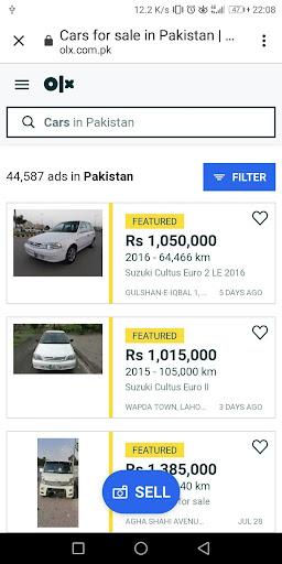 Used cars for sale Pakistan 1.71 Screenshots 3