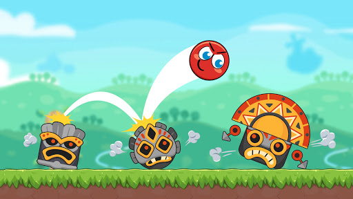 Red Bounce Ball Heroes apklade screenshots 2