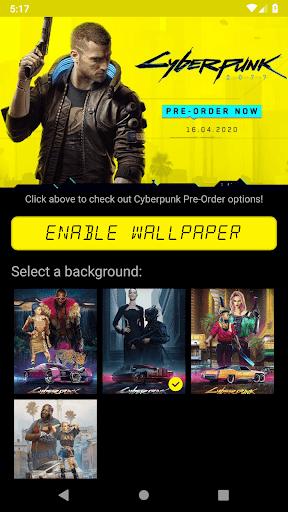 unofficial cyberpunk 2077 countdown live wallpaper screenshot 1