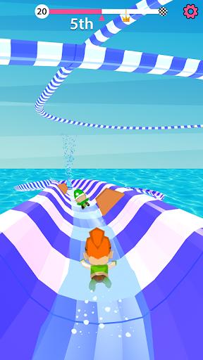 Aqua Path Slide Water Park Race 3D Game  screenshots 2
