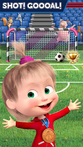 Masha and the Bear: Football Games for kids Apkfinish screenshots 3