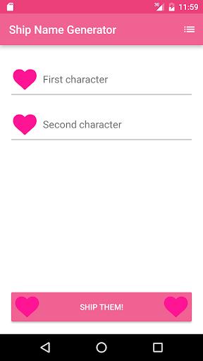 Fandom Ship Names Generator: Fluff and Fun 1.13 screenshots 6