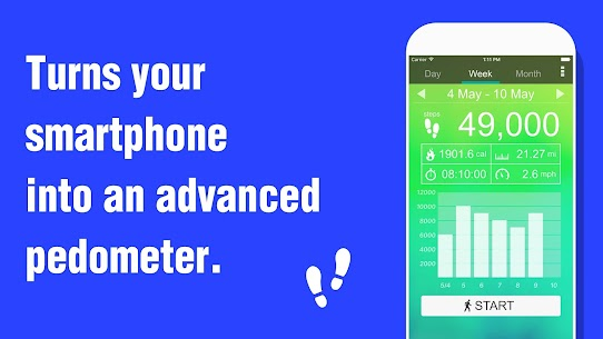 Pedometer – Step Counter 5.36 MOD for Android 2