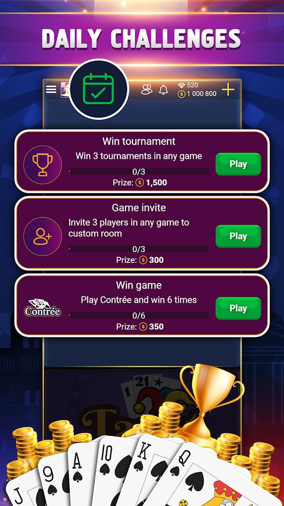 VIP Belote - Coinche & Contrée - (iOS Jocuri) — AppAgg