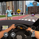 Passenger Taxi Car City Rush Driving