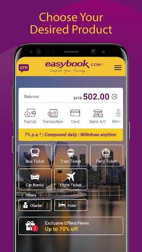 Easybook - Bus, Train, Ferry, Flight & Car Rental  screenshots 2