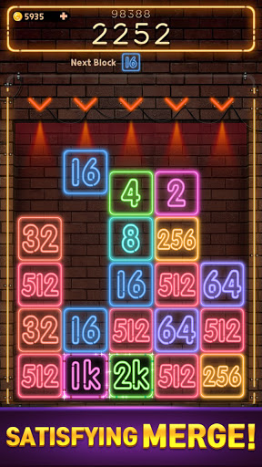 Drop Number : Neon 2048 apktram screenshots 4