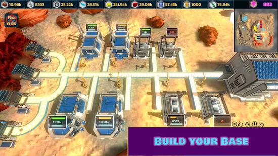 Télécharger Idle Space Mining -  Minage de l'espace zen APK MOD (Astuce) screenshots 1